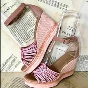 Anthropologie Wedge Sandal Espadrille Suede 40/9